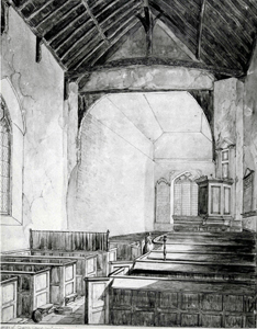 The interior looking east in 1844 by Lewis Allen [Z50/31/98]